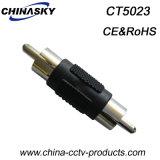 CCTV Male RCA to Male RCA Plug, Nickel Plated (CT5023)