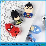 Customize Stick PVC Superman Cartoon USB Flash Drive (EG008)