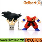 100% Real Capacity One Piece PVC USB 2.0 Flash Driver