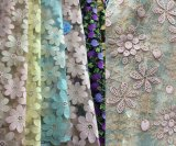 Champagne Fabric Lace Roll, Champagne Fabric Floral Pattern Lace Fabric for Decoration