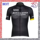 Custom Black Design Full Zip Digital Printing Cycling Jersey