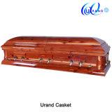 Solid Red Cedar High Gloss Velvet American Casket and Coffin