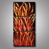 Burning Fire Metal Wall Art / Metal Oil Painting for Hall