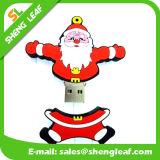 Promotional Cute Santa Claus Shape Rubber USB Flash Drive (SLF-RU005)