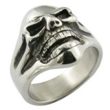 316L Stainless Steel Handmade Cast Biker Men Rings