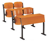Cheaper 3 Seater Plywood Student Classroom School Furniture