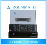 2016 Latest High CPU Zgemma H5 FTA HD TV Sat Receiver Dual Core Linux OS E2 Hevc/H. 265 DVB-S2+ Hybrid DVB-T2/C Twin Tuners