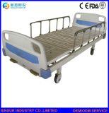 Hot Sale Hospital Furniture Manual Double Function Adjustable Medical Bed