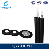 Single Mode Fiber FTTH Butterfly Messenger Wire Drop Cable
