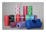 Degradable Green and Pink Dog Poop Bag with Dispensers