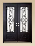 Uid-D062 Elegant Hand Froged Entry Iron Door
