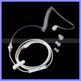 Single Radiation Protection Air Coil Earphone Headset Headphones with Spring Retractable Cable for Mobile