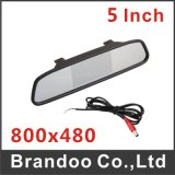 5 Inch Rear Mirror Car Monitor, 2 Channel Video Input, Model Bd-7105, Used for Taxi, Bus, Truck, Private Car, for Rear Driving