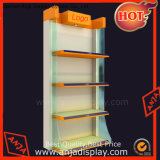 Wooden Retail Shelving Unit Three Shelves, Folding Panels, Pine Wood