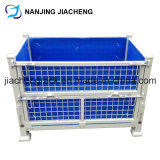 Foldable Storage Rigid Welded Pallet Cage by Powder Coated