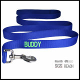 Premium Quality Personalized ID Dog Lead with Embroidered Woven Logo