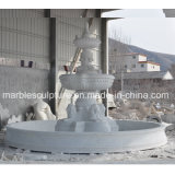 White Carrara Marble Water Fountain for Garden Decoration (SY-F301)