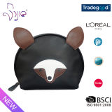 High Quality Cute Cartoon Animal Cosmetic Bag with BSCI Audited Factory