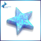Wholesale Price Blue Star Cut Synthetic Opal Loose Bead