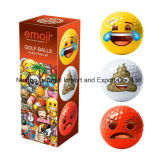 Emoji Pattern Smile Face Golf Ball for Wholesale Popular Design