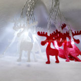 Deer AA Battery Operated Fairy Light Pure White