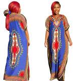 African Dashiki Kaftan Abaya Casual Maxi Hijab (A935)