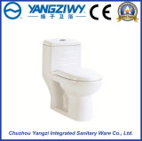 Ceramic One Piece Double Hole Siphonic Toilet