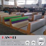 Wood Frame Steel Base PU Finished Bench Carriage Seat Wooden Furniture