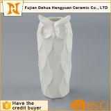 Ceramic Unique Owl White Decorative Tall Vase