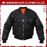 Wholesale Cheap Black Zip up Flight Jackets Custom (ELTBJI-27)