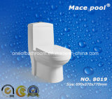 Popular Bathroom Type One-Piece Toilet Siphonic S-Trap (8019)