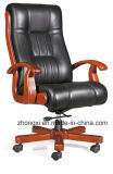 Modern PU Leather Wood Frame Swivel Chair Manager Chair