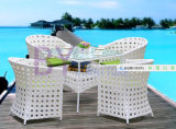 PE Rattan Outdoor Table and Chair Set, Comfortable Garden