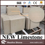 New Material Bush Hammered Indus Beige Limestone Tiles for Wall