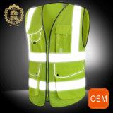 OEM Multi Pocket Reflecting Safety Vest, High Visibility Reflecting Protection Vest