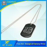 Promotion Wholesale Fashion Custom Stainless Steel Metal Military Name/Pet/ID/Dog Tag with Print Logo and Necklace (XF-DT06)
