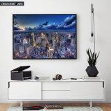 Beautiful Big City Night Overlooking View Canvas Print