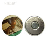 Cute Mini Metal Magnetic Sticker for Fridge / Round Tin Magnet