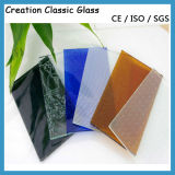 4-12mm Tinted Pattern/ Acid Etched Glass with Ce SGS