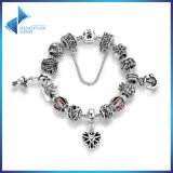 Openwork Snowflake Heart Pendant Anchor Safety Chain Bracelets