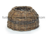 Natural Handmade Round Garden Planter Without Handle
