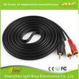 3.5mm to AV RCA Audio Adapter Cable for iPod/MP3/PC 1.8m