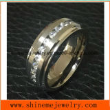Shineme Jewelry High Quality 30PCS Stones Titanium Ring (TR1869)