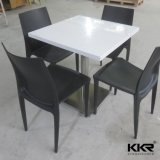 4 Seats Faux Acrylic Solid Surface Top Dining Table Set
