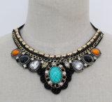 Fashion New Acrylic Zircon Costume Jewelry Choker Necklace (JE0095)