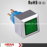Hban (22mm) Square Momentary Latching Head-Illumination Plastic Switch