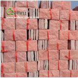 Peach Red Natural Split Rockface Wall Stone Veneer
