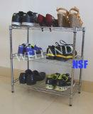 Adjustable Steel Chrome Shoes Rack (LD503050C3C)