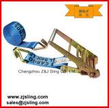 "Ratchet Strap/Tie Down W/ Wire Hooks 3"" X 27′ Blue"