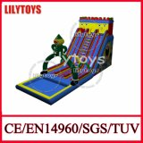 Newest Design Customize PVC Inflatable Slide with Pool (Lilytoys-New-007)